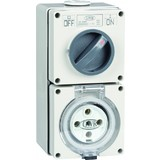 20 AMP 500V 5 ROUND PIN SWITCHED SOCKET