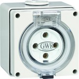 4 ROUND PIN 20 AMP FIXED SOCKET 500V IP66
