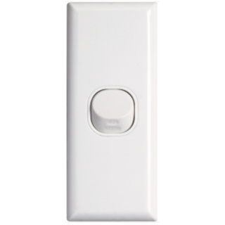 STANDARD SINGLE ARCHITRAVE SWITCH WHITE VETICAL